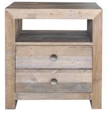 reclaimed wood nightstand camron 2 drawer wood nightstand