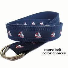 preppy ribbon belts mens belt sailboat belt d ring belt for men