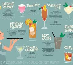 mixed drinks table to grave