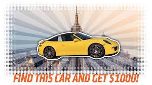 yellow porsche a lost his porsche in york city and will give you a grand