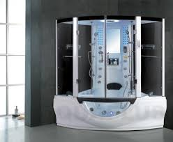 bathroom casual cube shower and small jacuzzi shower combination