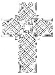 coloring pages crosses cross and roses threads unique and