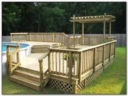 above ground swimming pool deck designs decks home decorating