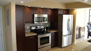 Kitchen Cabinet Doors Miami In Line Kitchen Remodeling Miami With Cherry Wood Cabinets