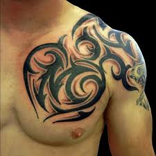 awesome tribal chest shoulder