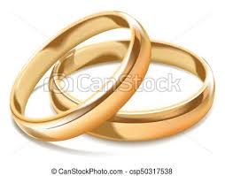 simple wedding rings images Gold shiny simple wedding rings isolated realistic vectors jpg
