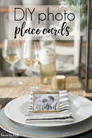 diy place cards diy photo place cards house by hoff