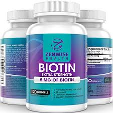 biotin softgels with 5000 mcg vitamin b7 for hair growth