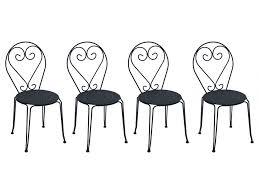 chaise de jardin lot 4 chaises de jardin fer forgé guermantes 2 coloris