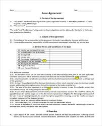 standard loan agreement template free loan contract template 26