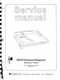 manual servicio ekg burdick ek10 1 amplifier electronic circuits