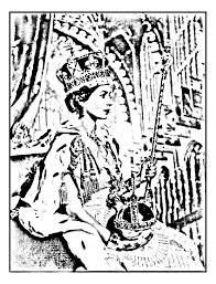free coloring page coloring elisabeth ii coronation june 195