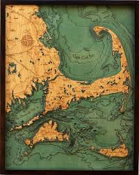 cape cod u0026 islands wood nautical chart 298 00 this beautiful