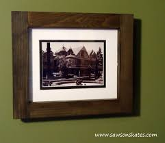 ana white no miter cut picture frames diy projects