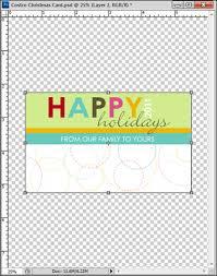 tutorial creating a custom christmas card in pscs5 and pse to