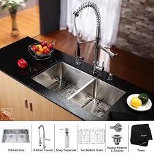 kitchen faucet soap dispenser kraus khu103 33 kpf1602 ksd30ch kitchen combo by zigsby s kitchen