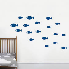 wall decor home decor home living school of fish wall decals for nursery children kids rooms classroom bathroom