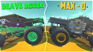 grave digger monster truck videos youtube grave digger and max destruction monster trucks scrap