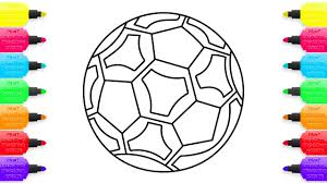 coloring pages soccer ball how to draw toys for children