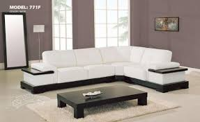 Low Sectional Sofa Furniture Contemporary White Leather Sectional Sofa With Long