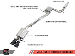 awe tuning mk5 jetta 2 5l performance exhaust suite awe tuning