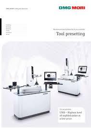 tool presetting dmg mori pdf catalogue technical