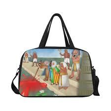 passover plagues bag passover the plague of blood weekend travel bag model 1671
