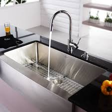 Stainless Steel Kitchen Faucets Stainless Steel Kitchen Sink Combination Kraususa Com