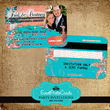 theme invitations arabian theme coral and turquoise wedding invitations credit card