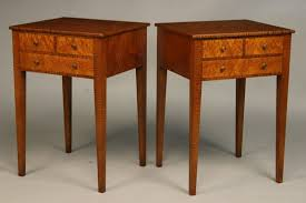 custom nightstand three drawer tiger maple birdseye maple hand cut