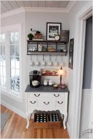 country kitchen theme ideas countertops backsplash hanging white cup cornder open shelv