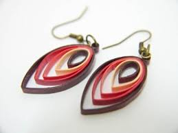 quiling earrings shades of leaf paper quilling earrings meylah