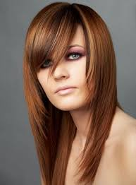 short choppy razored hairstyles blonde medium length choppy shag haircut with wispy bangs and dark