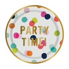 celebration plates party time celebration plates 8 ct only southern made
