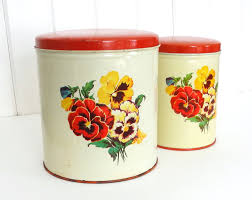 vintage parmeco canisters set of 2 metal kitchen canisters with