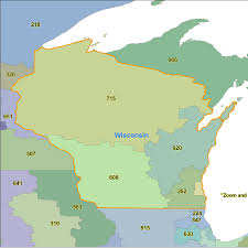 Wisconsin Maps by Wisconsin Area Code Maps Wisconsin Telephone Area Code Maps Free