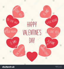 retro valentines retro valentines day card hearts stock vector 352228868