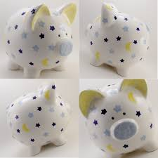 Personalized Silver Piggy Bank D I Y Personalize Your Piggy Bank Buy A Plain One And Paint On