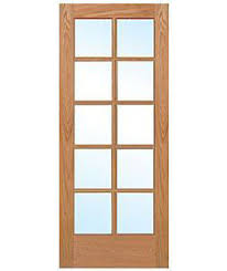 Solid Interior French Doors 10 Lite Red Oak Clear Tempred Glass Stain Grade Solid Interior