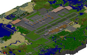 New York Minecraft Map by Prime International Airport Supports Haribote Zeppelin Mod