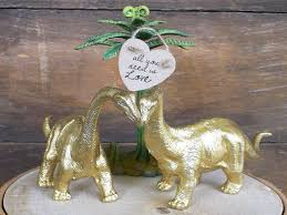 dinosaur wedding cake topper cake topper wedding cake topper gold dinosaur groom