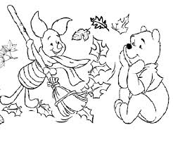 coloring page of fall printable fall coloring pages winnie the pooh and piglet autumn