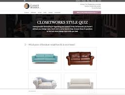 hubspot website redesign improves ux increases conversions closet works style quiz website redesign gif