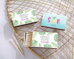 wedding matchbooks personalized pineapple and palms white matchboxes set of 50 my