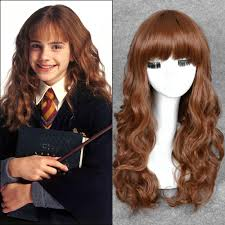 Harry Potter Hermione 55cm Medium Brown Long Curly Movie Harry Potter Hermione