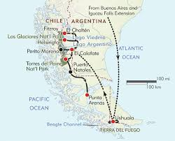 Circuit Of The Americas Map by In Patagonia Itinerary U0026 Map Wilderness Travel