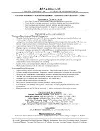 resume exles for warehouse simple sle warehouse distribution manager sle resume metal