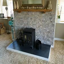 Travertine Fireplace Tile by Travertine Silver Split Face Tile 4
