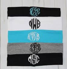 monogram headband hair accessory monogram headband black white mint wheretoget