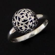 metal ball rings images Sterling silver filigree rings ajoure silver rings filigree jpg